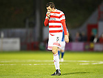 Hamilton Accies v St Johnstone...31.10.15  SPFL  New Douglas Park, Hamilton<br /> Martin Canning reacts to the defeat<br /> Picture by Graeme Hart.<br /> Copyright Perthshire Picture Agency<br /> Tel: 01738 623350  Mobile: 07990 594431