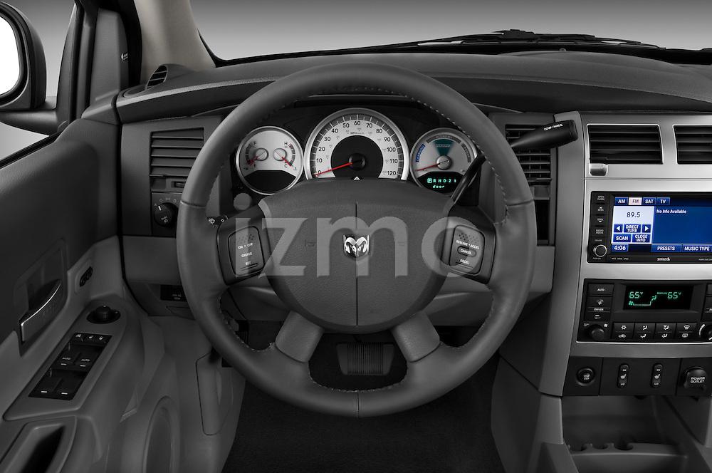 Steering wheel view of a 2009 Dodge Durango Hybrid