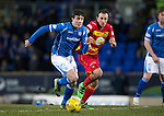St Johnstone v Partick Thistle…02.03.16  SPFL McDiarmid Park, Perth<br />Joe Shaughnessy and Stuart Bannigan<br />Picture by Graeme Hart.<br />Copyright Perthshire Picture Agency<br />Tel: 01738 623350  Mobile: 07990 594431
