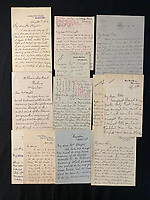 BNPS.co.uk (01202 558833)<br /> Pic: H.Aldridge&Sons/BNPS<br /> <br /> Pictured: Part of the sale was a harrowing letter from a survivor of the Titanic disaster who described hearing the cries from the crowds of people as they went down with the ship has come to light. The five page eye-witness account was penned by Marion Wright to her father in England two days after the tragedy in April 1912 - this letter sold for £12,500<br /> <br /> Relics salvaged from the sunken ship that rescued the Titanic survivors have sold at auction for £135,000.<br /> <br /> The rare items included the engine room order telegraph the captain of the Carpathia used after he received the SOS from Titanic.<br /> <br /> He moved the handle to 'Full Steam Ahead', instructing staff in the engine room to rapidly increase speed