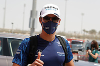 26th March 2021; Sakhir, Bahrain; F1 Grand Prix of Bahrain, Free Practice sessions;  RUSSELL George (gbr), Williams Racing F1 FW43B,  during Formula 1 Gulf Air Bahrain Grand Prix