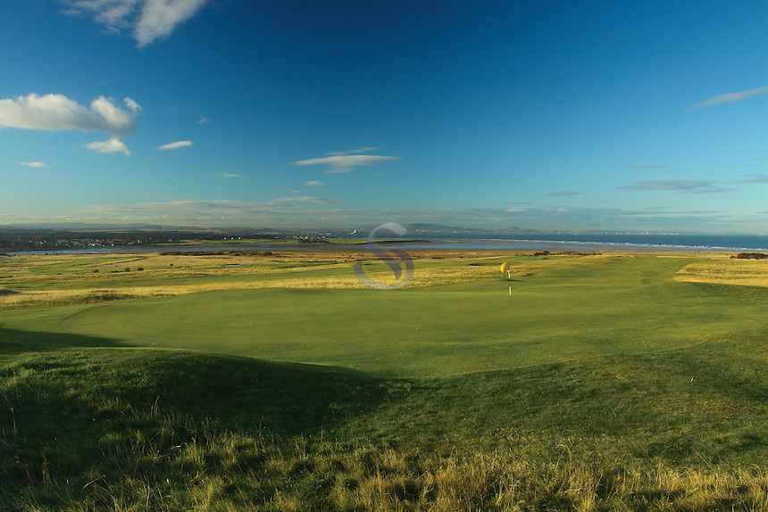 Gullane and the Pentland Hills from Gullane Links Golf Course, East Lothian<br /> <br /> Copyright www.scottishhorizons.co.uk/Keith Fergus 2011 All Rights Reserved