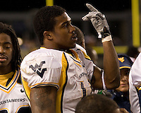 16 November 2006: WVU running back Steve Slaton..The West Virginia Mountaineers defeated the Pitt Panthers 45-27 on November 16, 2006 at Heinz Field, Pittsburgh, Pennsylvania.