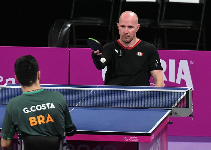 Peter Isherwood, Lima 2019 - Para Table Tennis // Para tennis de table.<br /> Peter Isherwood competes in Para Table Tennis // Peter Isherwood participe en Para tennis de table. 22/08/2019.