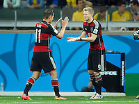 Miroslav Klose of Germany is replaced by Andre Schurrle