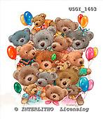 GIORDANO, CUTE ANIMALS, LUSTIGE TIERE, ANIMALITOS DIVERTIDOS, Teddies, paintings+++++,USGI1603,#AC# teddy bears