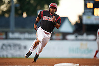 Batavia Muckdogs outfielder Travis Brewster (41) running the bases during a game against the Williamsport Crosscutters on August 27, 2015 at Dwyer Stadium in Batavia, New York.  Batavia defeated Williamsport 3-2.  (Mike Janes/Four Seam Images)