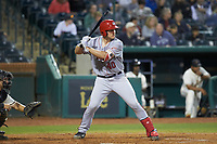 Nic Perkins (40) of the Hagerstown Suns at bat against the Greensboro Grasshoppers at First National Bank Field on April 6, 2019 in Greensboro, North Carolina. The Suns defeated the Grasshoppers 6-5. (Brian Westerholt/Four Seam Images)
