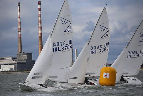 Flying Fifteen racing on Dublin Bay. The class is the most popular keelboat class in the 21-class DBSC fleet