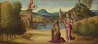 Full title: Augustus and the Sibyl<br /> Artist: Italian, Venetian<br /> Date made: about 1500