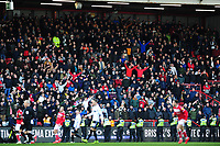 Swansea City Fans in action during the Sky Bet Championship match between Bristol City and Swansea City at Ashton Gate in Bristol, England, UK. Monday 02 February 2019