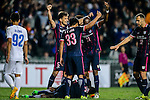 FC Kitchee Forward Alexander Akande (b) celebrating his score with teammates during the AFC Champions League 2017 Preliminary Stage match between  Kitchee SC (HKG) vs Hanoi FC (VIE) at the Hong Kong Stadium on 25 January 2017 in Hong Kong, Hong Kong. Photo by Marcio Rodrigo Machado/Power Sport Images