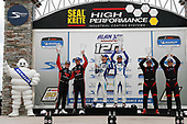 #17 JDC-Miller Motorsports Audi RS3 LMS TCR, TCR: Mikey Taylor, Britt Casey Jr, #37 LA Honda World Racing Honda Civic TCR, TCR: Tom O'Gorman, Shelby Blackstock, #89 HART Honda Civic TCR, TCR: Chad Gilsinger, Ryan Eversley, podium