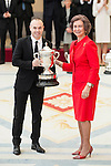 Andres Iniesta and Queen Sofia attends to the National Sports Awards 2015 at El Pardo Palace in Madrid, Spain. January 23, 2017. (ALTERPHOTOS/BorjaB.Hojas)