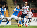 St Johnstone v Ross County…24.10.17…  McDiarmid Park…  SPFL<br />David Wotherspoon and Andrew Davies<br />Picture by Graeme Hart. <br />Copyright Perthshire Picture Agency<br />Tel: 01738 623350  Mobile: 07990 594431