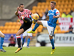 St Johnstone v Sunderland…15.07.17… McDiarmid Park… Pre-Season Friendly<br />Jack Rodwell and Chris Millar<br />Picture by Graeme Hart.<br />Copyright Perthshire Picture Agency<br />Tel: 01738 623350  Mobile: 07990 594431
