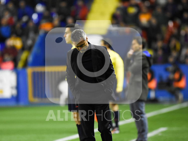 Getafe's coach Fran Escriba  during La Liga match. February 19, 2016. (ALTERPHOTOS/Javier Comos)