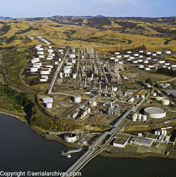 aerial photograph of the Phillips 66 San Francisco Refinery, Rodeo, California