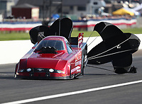Sep 2, 2018; Clermont, IN, USA; NHRA funny car driver Bob Bode during qualifying for the US Nationals at Lucas Oil Raceway. Mandatory Credit: Mark J. Rebilas-USA TODAY Sports