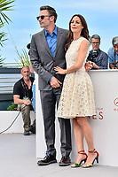 Michel HAZANAVICIUS et Bérénice BEJO au photocall pour le film LE REDOUTABLE lors du soixante-dixième (70ème) Festival du Film à Cannes, Palais des Festivals et des Congres, Cannes, Sud de la France, dimanche 21 mai 2017. Philippe FARJON / VISUAL Press Agency