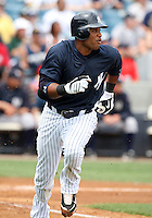April 3, 2010:  Second Baseman Robinson Cano of the New York Yankees playing in the annual Futures Game during Spring Training at Legends Field in Tampa, Florida.  Photo By Mike Janes/Four Seam Images