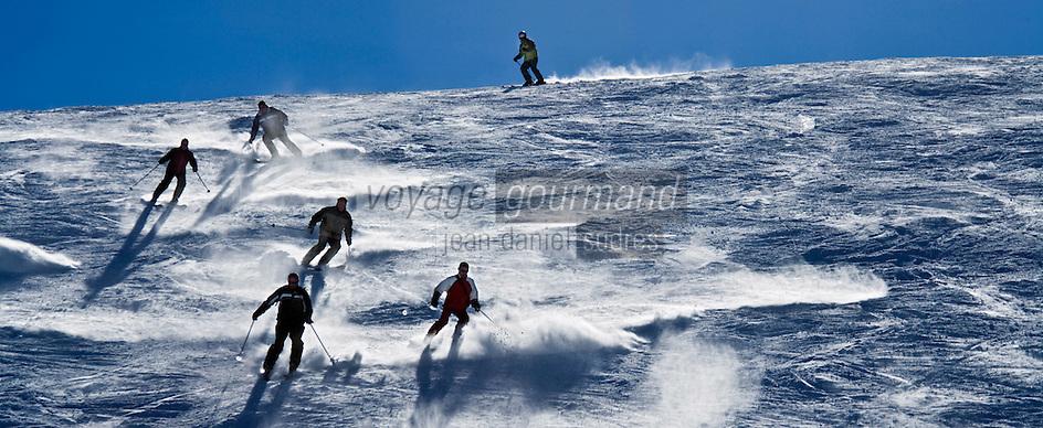 Europe/France/73/Savoie/Val d'Isère: Sur les pistes   au sommet du telecabine de la Daille 2290m