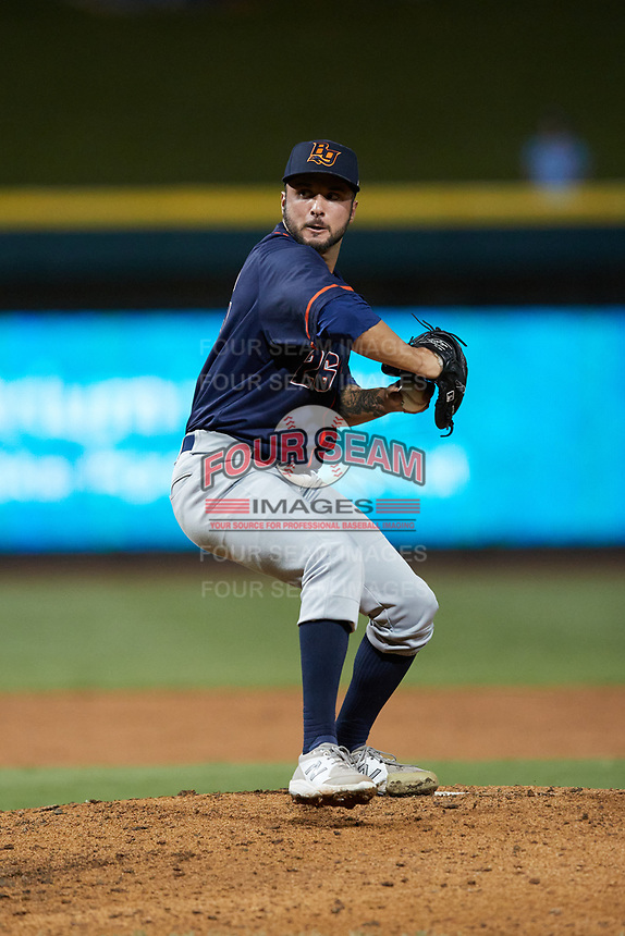 Bowling Green Hot Rods relief pitcher Michael Costanzo (26) in action against the Winston-Salem Dash at Truist Stadium on September 9, 2021 in Winston-Salem, North Carolina. (Brian Westerholt/Four Seam Images)