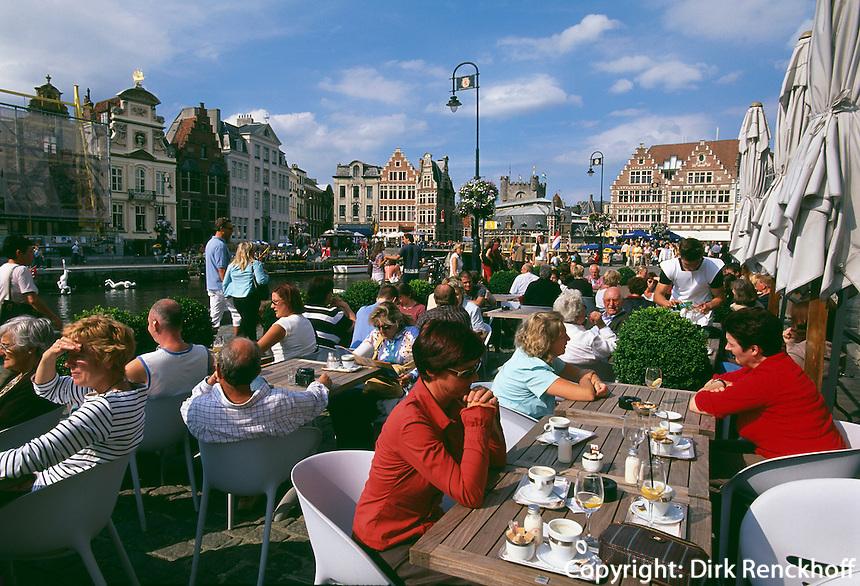 Restaurant Belga Queen Graslei Nr. 10 in Gent, Flandern, Belgien
