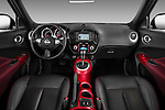 Straight Dashboard View 2011 Nissan Juke SV SUV Stock Photo