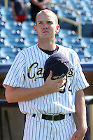 June 11th 2008:  Pitcher Ryan Morris of the Lake County Captains, Class-A affiliate of the Cleveland Indians, during a game at Classic Park in Eastlake,OH.  Photo by:  Mike Janes/Four Seam Images