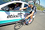 Tom Boonen (BEL) Etixx-Quick Step back at the team car during Stage 4 of the 2015 Presidential Tour of Turkey running 132km from Fethiye to Marmaris. 29th April 2015.<br /> Photo: Tour of Turkey/Mario Stiehl/www.newsfile.ie