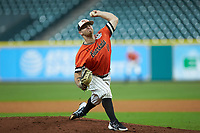 Sam Houston State Bearkats starting pitcher Seth Ballew (11) in action against the Mississippi State Bulldogs during game eight of the 2018 Shriners Hospitals for Children College Classic at Minute Maid Park on March 3, 2018 in Houston, Texas. The Bulldogs defeated the Bearkats 4-1.  (Brian Westerholt/Four Seam Images)