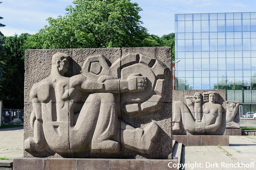 Einheitsplatz in Kaunas, Litauen, Europa