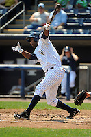 Staten Island Yankees outfielder Ravel Santana (11) during game against the Aberdeen Ironbirds at Richmond County Bank Ballpark at St.George on July 18, 2012 in Staten Island, NY.  Staten Island defeated Aberdeen 3-2.  Tomasso DeRosa/Four Seam Images