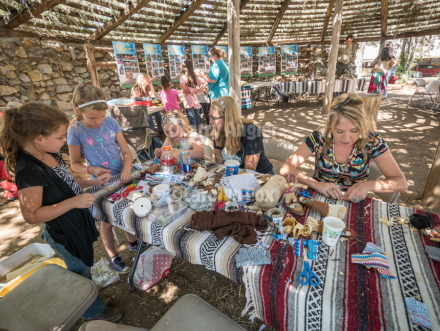 Day 2 of the Amador County Fair, Plymouth, Calif.<br /> <br /> Kids learn ancient crafts at the Miwuk Village