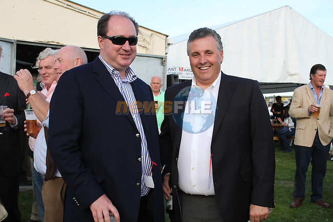 Shane Grant and Martin Healy at the Bellewstown Races..Picture Jenny Matthews/Newsfile.ie