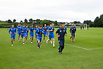 St Johnstone Pre-Season Training in Northern Ireland.. 08.07.16<br />Fitness coach Alex Headrick leads the players on a run<br />Picture by Graeme Hart.<br />Copyright Perthshire Picture Agency<br />Tel: 01738 623350  Mobile: 07990 594431