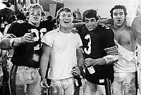 Ottawa Rough Riders  Rod Woodward, Jim Foley, John Kruspe and Mark Kosmos 1979. Copyright photograph Scott Grant