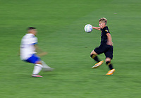 LOS ANGELES, CA - SEPTEMBER 02: Bryce Duke #19 of the Los Angeles Football Club moves with the ball during a game between San Jose Earthquakes and Los Angeles FC at Banc of California stadium on September 02, 2020 in Los Angeles, California.