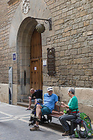 Espagne, Navarre, Pampelune:  Albergue de peregrinos de Jesús y María, Auberge pour Pélerins , Calle Compañía //  Spain, Navarre, Pamplona: Albergue de peregrinos de Jesús y María, Pilgrim's hostels, Calle Compañía