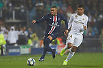 Kylian Mbappe of PSG  and Casemiro of Real Madrid
