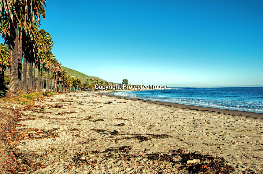 A January view of Refugio State Beach in Southern California.
