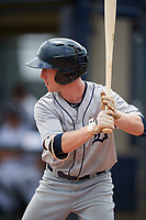 GCL Tigers West designated hitter Jon Rosoff (8) at bat during a game against the GCL Yankees West on August 10, 2018 at Yankee Complex in Tampa, Florida.  GCL Yankees West defeated GCL Tigers West 6-5.  (Mike Janes/Four Seam Images)
