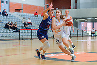Tina Krajisnik (33) of Serbia and Laure Resimont (10) of Belgium pictured during a basketball game between the national teams of Belgium , called the Belgian Cats , and Serbia on Friday 28 th of May 2021 in Kortrijk , Belgium . PHOTO SPORTPIX.BE   SPP   STIJN AUDOOREN