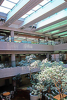 Vancouver: Law Courts--Robson Square. Beneath the waterfall & pool on #10.  Photo '86.