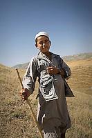 A shepherd boy in the hills.