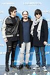"Pablo Ibañez, Jordi Sanchez and Luis Piedranhita attends to the presentation of the film ""Ls Pitufos"" in Madrid. March 14, 2017. (ALTERPHOTOS/Borja B.Hojas)"