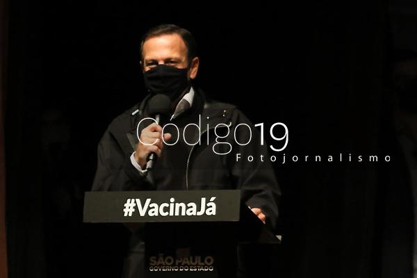 Jundiaí (SP), 06/08/2021 - Doria-SP - O Governador João Doria apresenta nesta sexta-feira (6), em audiência pública com autoridades locais e representantes da sociedade civil, a proposta estadual para criação da Região Metropolitana de Jundiaí. O evento foi realizado no eatro Polytheama Jundiai.