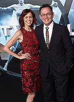 Carrie Preston + Michael Emerson @ the premiere of HBO new drama series 'Westworld' held @ the Chinese theatre. September 28, 2016