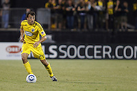 29 MAY 2010:  Jed Zayner of the Columbus Crew (24) during MLS soccer game between LA Galaxy vs Columbus Crew at Crew Stadium in Columbus, Ohio on May 29, 2010. Galaxy defeated the Crew 2-0.